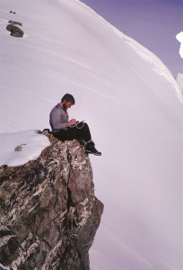 John, journaling in Antarctica – 1964