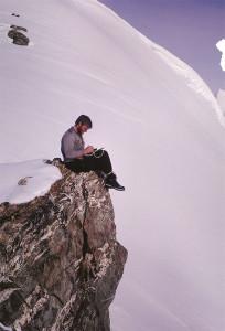 John, journaling in Antarctica – 1964